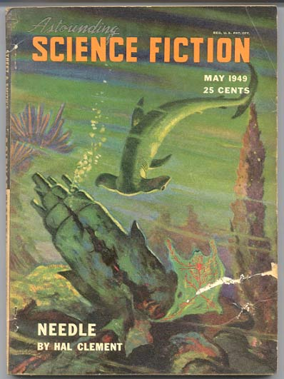 THE CONROY DIARY by Rene Lafayette [pseudonym] [in] ASTOUNDING SCIENCE FICTION magazine, May, 1949 issue, Vol XLIII, No. 3. L. Ron HUBBARD.
