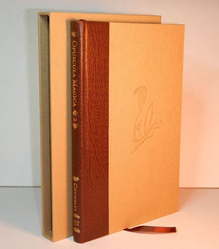 OPUSCULA MAGICA. Volume II: Essays on Witchcraft and Crooked Path Sorcery. Edited by Daniel A. Schulke. Deluxe Edition Bound in Quarter morocco with slipcase. Andrew D. CHUMBLEY.