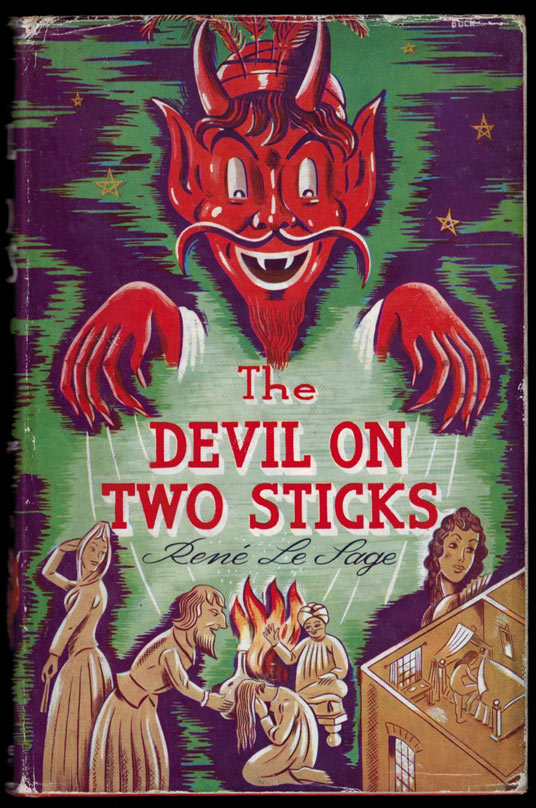 THE DEVIL ON TWO STICKS.; A New Edition, with an Introduction by Arthur Symons. With Illustrations and Decorations by Philip Halgreen. René LE SAGE.
