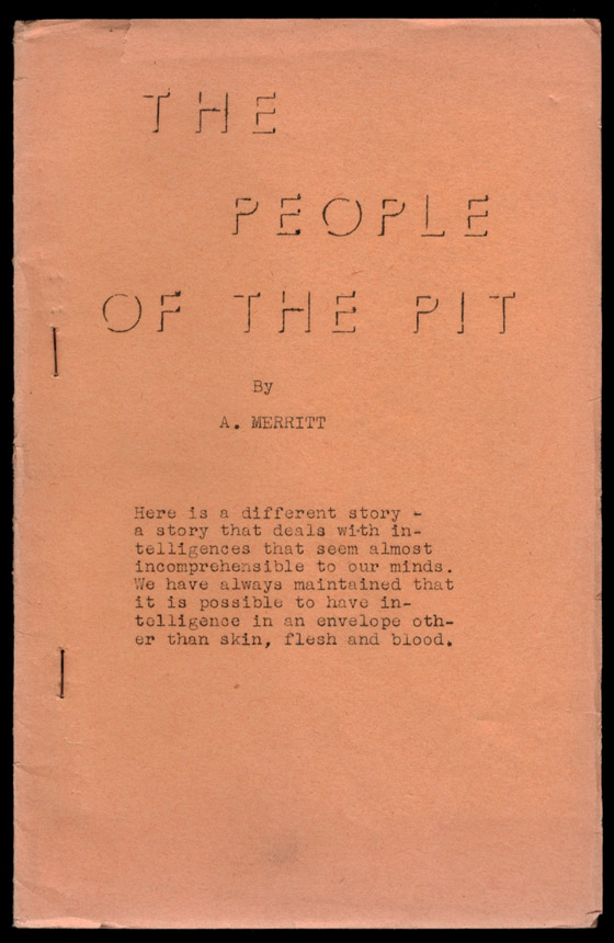 THE PEOPLE OF THE PIT. A. MERRITT, Abraham.
