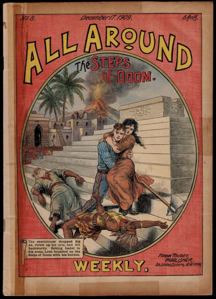 THE STEPS OF DOOM. A Tale of the Land of the Incas. By L. Philips. All-Around Weekly No 8. L. DIME NOVEL. ALL-AROUND WEEKLY No. 8. PHILIPS.