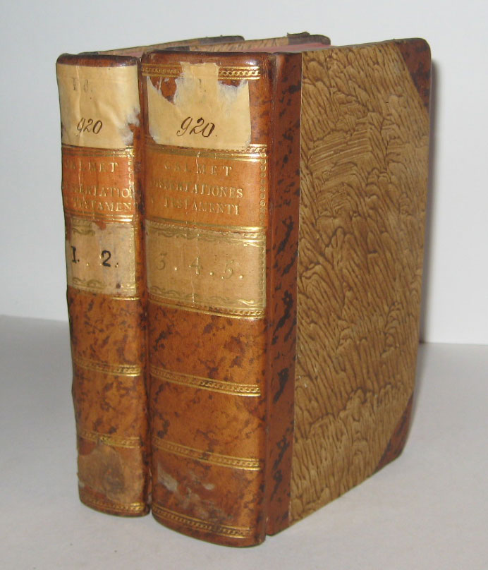 Dissertationes Excerptae ex Commentario Literali in Omnes Novi Testamenti. Five Volumes in Two. Augustin CALMET.