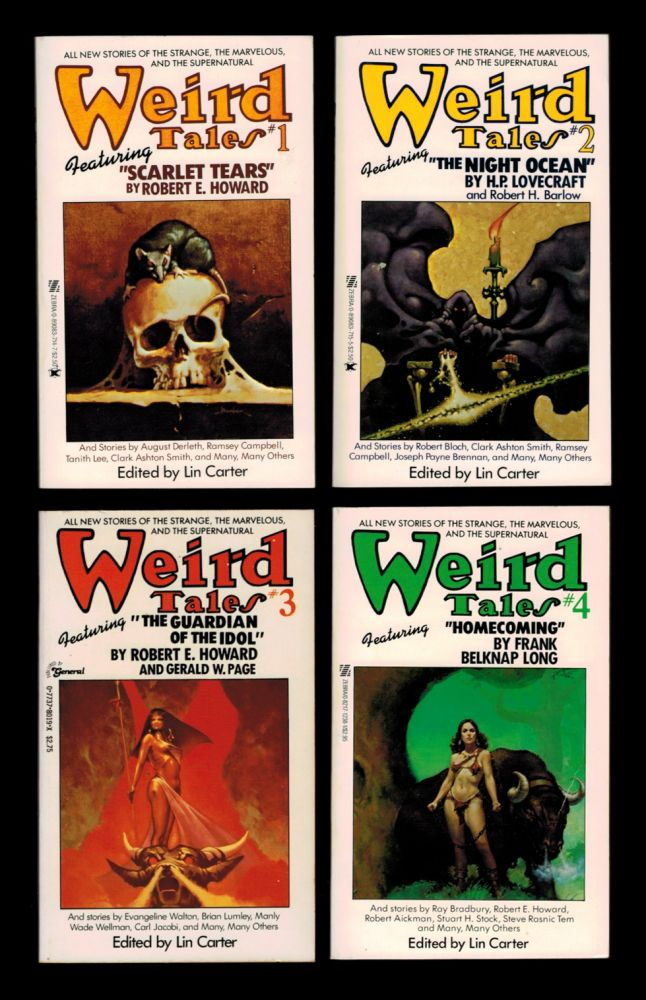 WEIRD TALES. Numbers 1, 2, 3 & 4. Edited by Lin Carter. Lin CARTER.