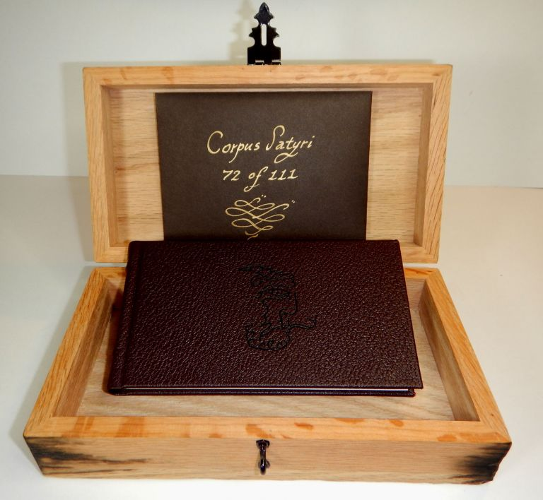 THE SATYR'S SERMON. By the Hand and Eye of Alogos. Deluxe Edition, limited to 111 copies Bound in Full Morocco, With Specially Made Oak Box, Accompanied by a Sacramental Talisman of the Corpus Satyri. Andrew D. CHUMBLEY.