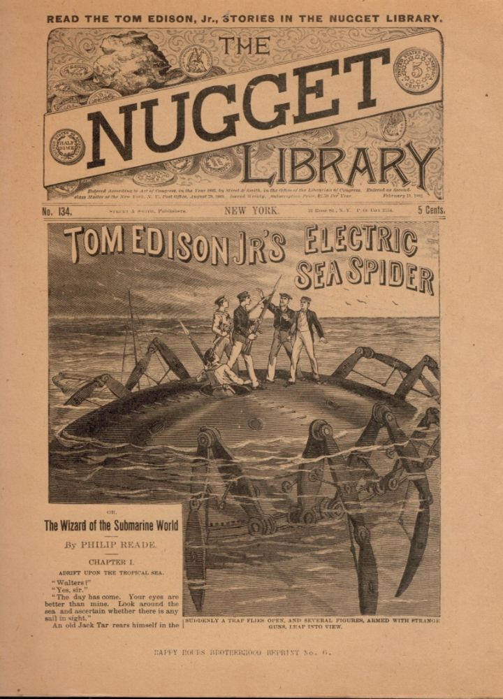 TOM EDISON JR'S ELECTRIC SEA SPIDER; Or, Wizard of the Submarine World [in] THE NUGGET LIBRARY. Tom EDISON, Jr.