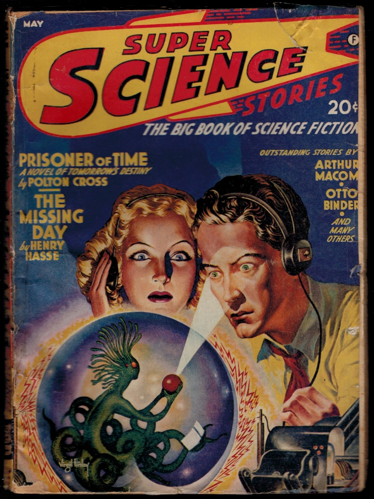 SUPER SCIENCE STORIES magazine, Vol 3, No 4, May, 1942 issue. Vol 3 PULP MAGAZINES SUPER SCIENCE STORIES magazine, 1942 issue, May, No 4.