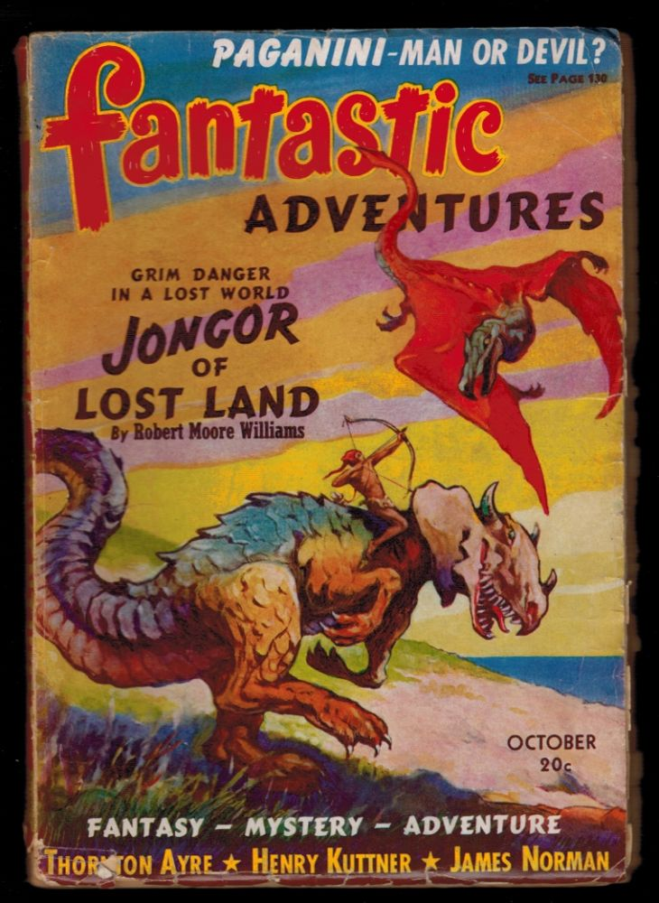 FANTASTIC ADVENTURES Magazine, Vol 2, No 8, October, 1940 issue. Vol 2 PULP MAGAZINES FANTASTIC ADVENTURES Magazine, 1940 issue, October, No 8.
