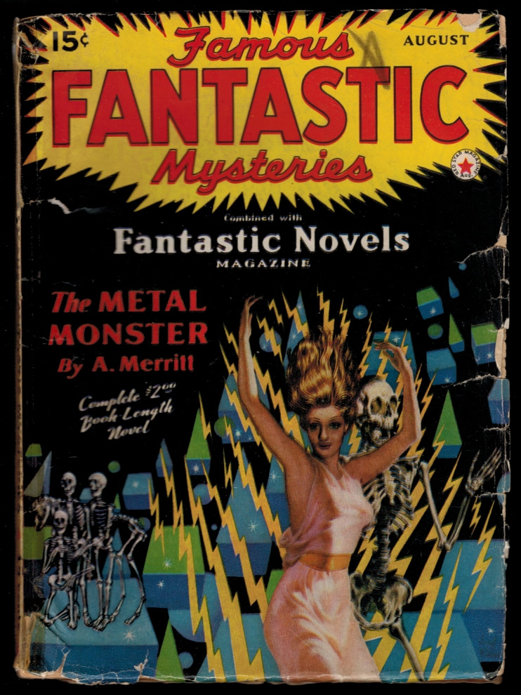FAMOUS FANTASTIC MYSTERIES Magazine, Vol III, No. 3, August, 1941 issue. Vol III FAMOUS FANTASTIC MYSTERIES Magazine, 1941 issue, August, No. 3.