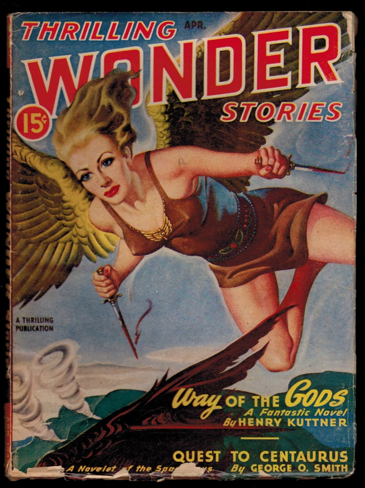 THRILLING WONDER STORIES magazine, Vol XXX, No 1, April, 1947 issue. Vol XXX THRILLING WONDER STORIES magazine, 1947 issue, April, No 1.