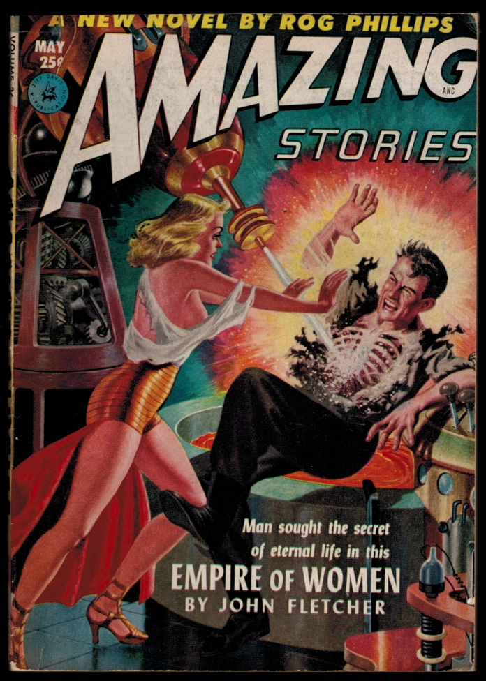 AMAZING STORIES magazine, Vol 26, No. 5, May, 1952 issue. Vol 26 PULP MAGAZINES AMAZING STORIES magazine, 1952 issue, May, No. 5.