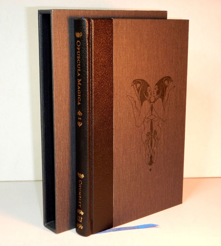 OPUSCULA MAGICA. Volume I: Essays on Witchcraft and The Sabbatic Tradition. Edited by Daniel A. Schulke. Deluxe Edition in Quarter Black Morocco with Slipcase. Andrew D. CHUMBLEY.