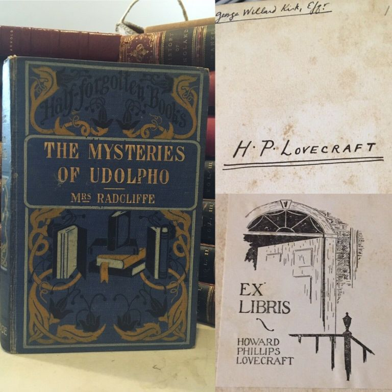 THE MYSTERIES OF UDOLPHO. A Romance. With an Introduction by D. Murray Rose. H.P. LOVECRAFT'S COPY. H. P. . RADCLIFFE LOVECRAFT, Ann, Howard Phillips.