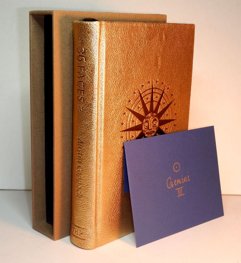 36 FACES. The History, Astrology and Magic of the Decans. With Original Illustrations by Bob Eames. Special edition, One of 36 in Full Golden Leather, with Talisman. Austin COPPOCK.