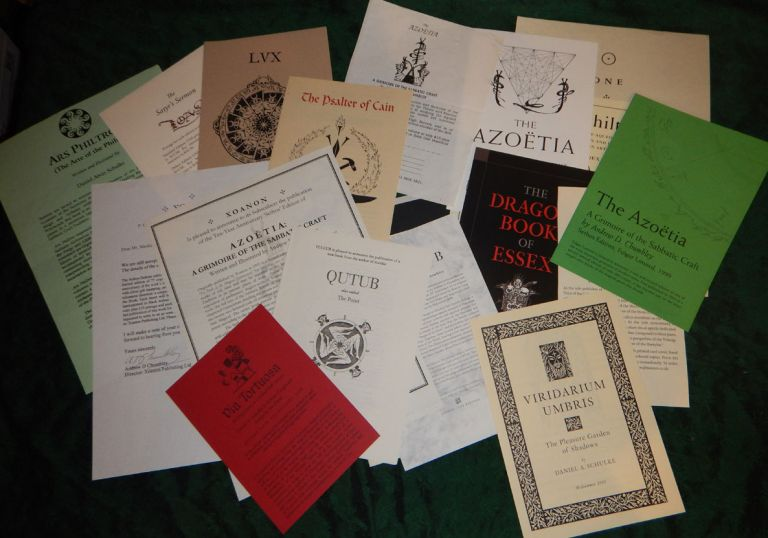A COLLECTION OF PROSPECTUSES FOR ALL THE BOOKS ISSUED BY XOANON PUBLISHING, 1992-2018. XOANON PUBLISHERS.