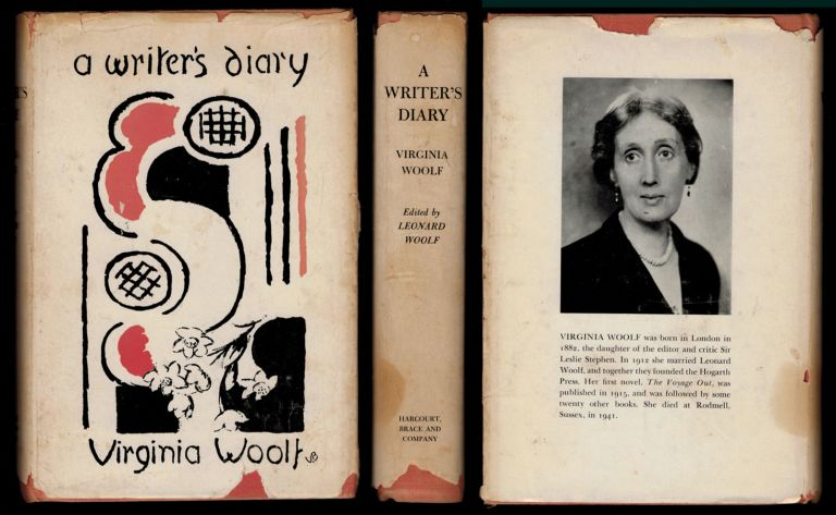 A WRITER'S DIARY; Being Extracts from the Diary of Virginia Woolf. Edited by Leonard Woolf. Author Jane Rule's Copy. Virginia WOOLF.