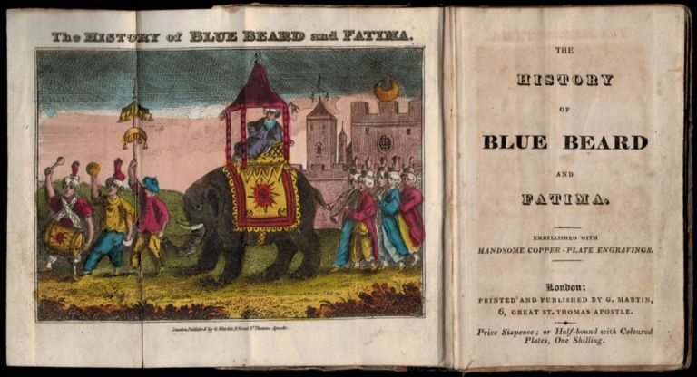 Chapbook: THE HISTORY OF BLUE BEARD AND FATIMA.; Embellished with Handsome Copper-Plate Engravings. ANONYMOUS, Charles Perrault.