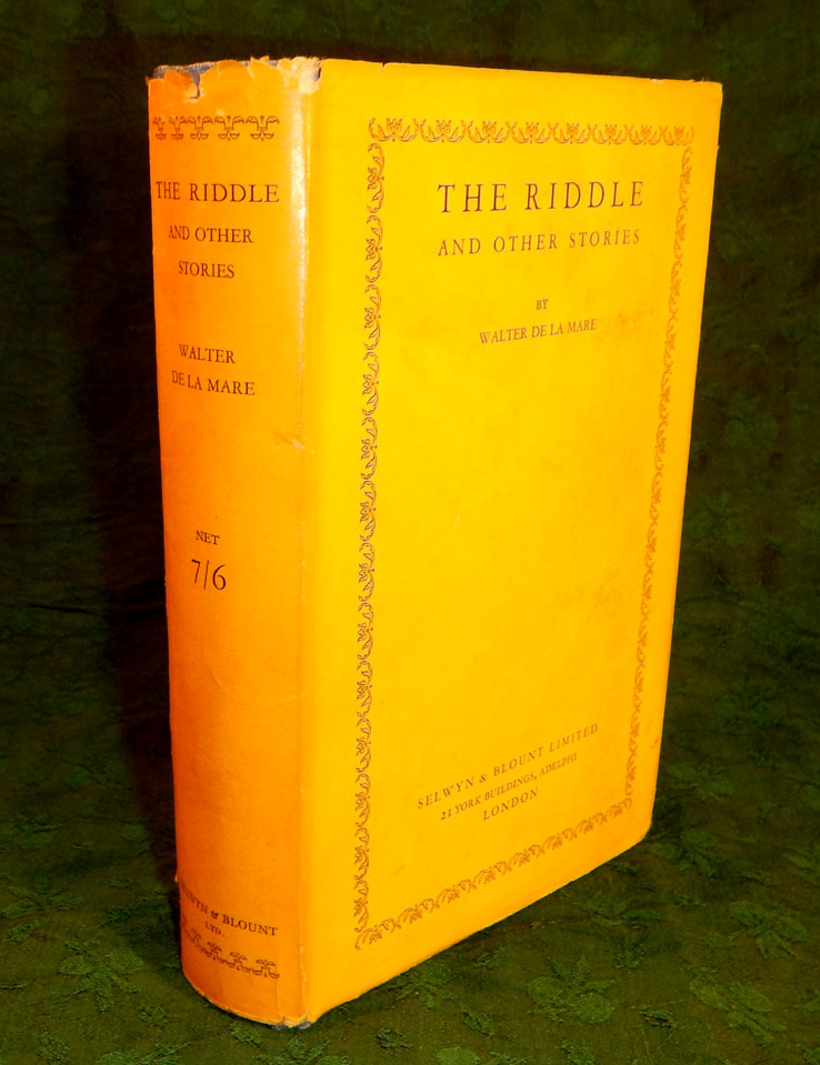 THE RIDDLE And Other Stories. Walter DE LA MARE.