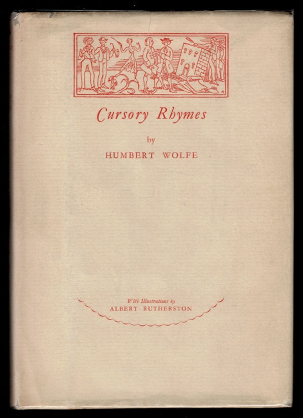 CURSORY RHYMES. Illustrated by Albert Rutherston. Humbert WOLFE.