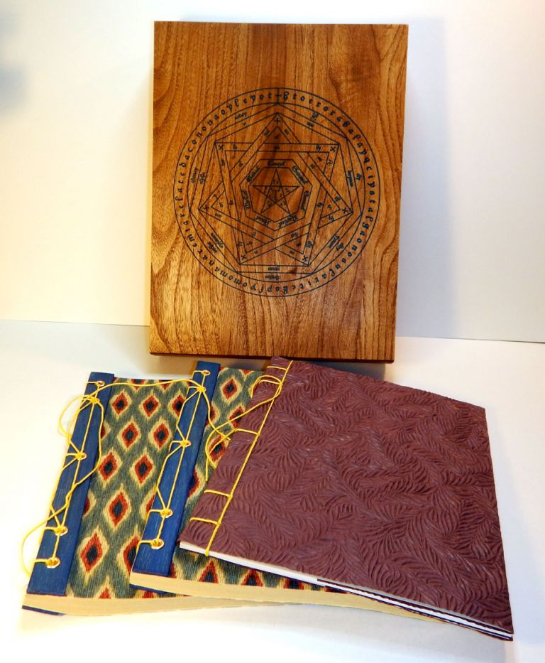 THE VISION AND THE VOICE [along with] A BRIEF ABSTRACT OF THE SYMBOLIC REPRESENTATION OF THE UNIVERSE Derived by Doctor John Dee Through the Skrying of Sir Edward Kelly. DELUXE EDITION IN WOODEN BOX. Aleister CROWLEY.