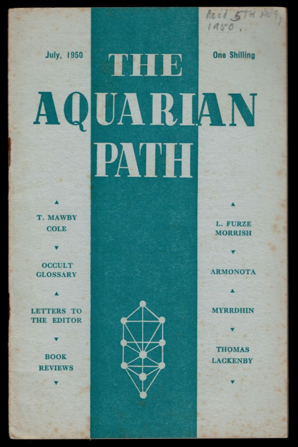 THE AQUARIAN PATH. Five Issues, July 1950 - June 1951. F. CLIVE-ROSS, Francis.