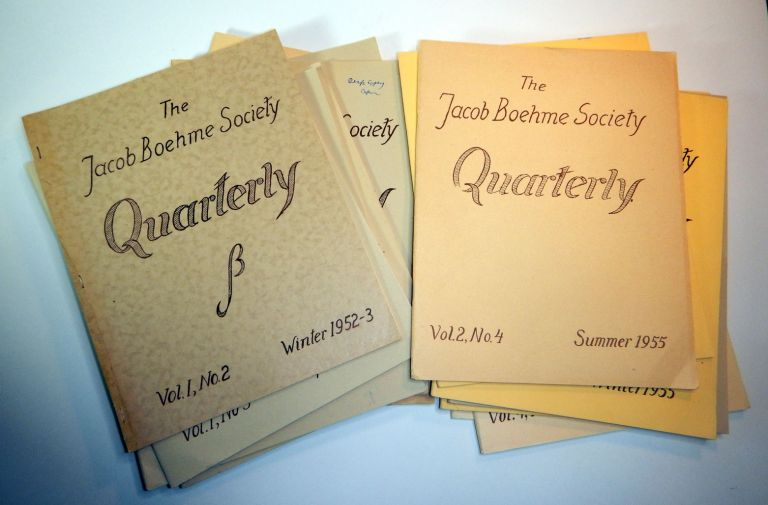 THE JACOB BOEHME SOCIETY QUARTERLY. 16 issues (of 19). Charles A. MUSES, Jacob BOEHME, Böhme.