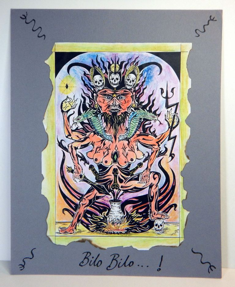 MAGICAL ICON OF AZH'MODAI, WITCH-FATHER OF THE SOUTH-EASTERN AERT. Original Artwork. Andrew CHUMBLEY.