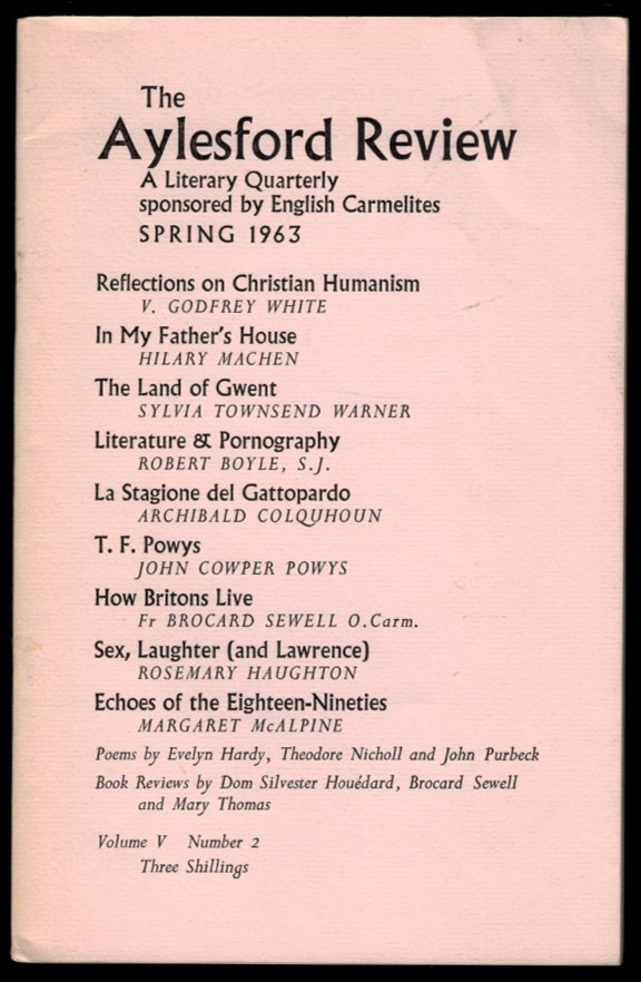 THE AYLESFORD REVIEW. Volume V, Number 2, Spring 1963. Arthur MACHEN, About.