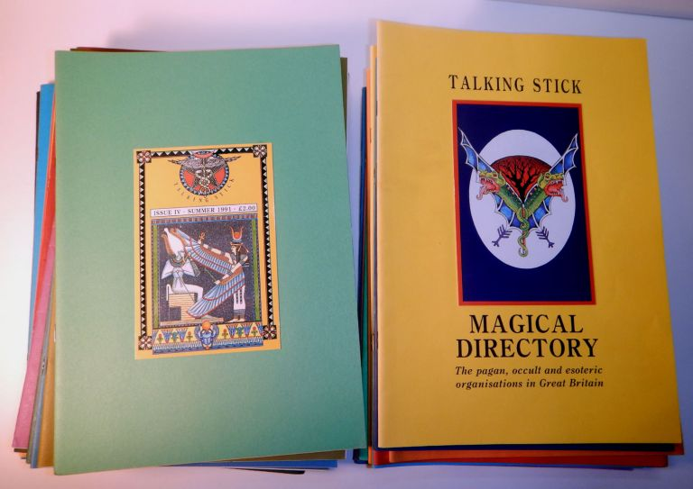 TALKING STICK MAGAZINE. Later titled: Talking Stick Journal). Issues No. 1 - 26, Plus Vol 2, Nos 1-2, Plus the TALKING STICK MAGICAL DIRECTORY. 29 issues, A Complete Set. TALKING STICK MAGAZINE . A. Complete Set, Later titled: Talking Stick Journal, Andrew Chumbley Interest.