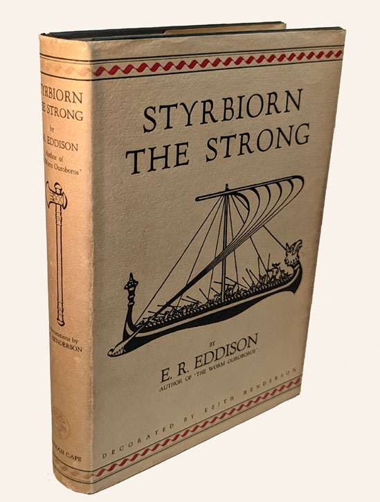 STYRBIORN THE STRONG. Illustrated by Keith Henderson. THE DEDICATION COPY. E. R. EDDISON, Eric Rücker.