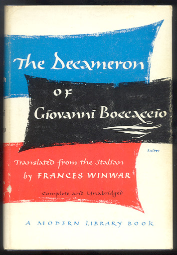 THE DECAMERON. Translated from the Latin by Frances Winwar. Giovanni BOCCACCIO.