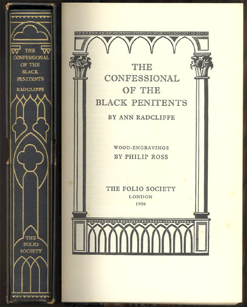 THE CONFESSIONAL OF THE BLACK PENITENTS By Ann Radcliffe. Wood Engravings by Philip Ross. Ann. Philip Ross RADCLIFFE.