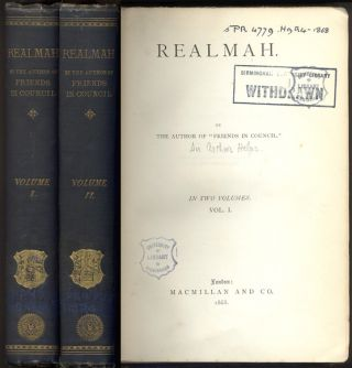 "REALMAH. By the Author of ""Friends in Council"". In Two Volumes. Arthur HELPS"