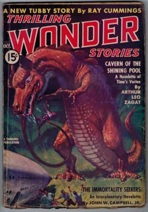 THRILLING WONDER STORIES magazine, Vol 10, No 2, October, 1937 issue. Vol 10 THRILLING WONDER...