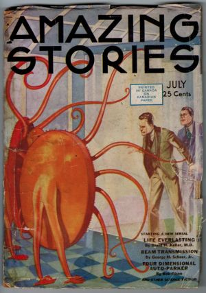 AMAZING STORIES magazine, Vol 9, No. 3, July, 1934 issue. Vol 9 AMAZING STORIES magazine, 1934...