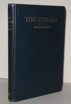 THE CABALA. Its Influence on Judaism and Christianity. Bernhard PICK.