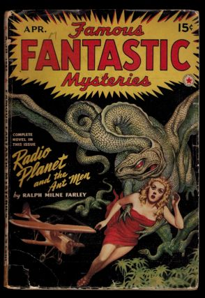 FAMOUS FANTASTIC MYSTERIES Magazine, Vol IV, No. 1, April, 1942 issue. Vol IV FAMOUS FANTASTIC...