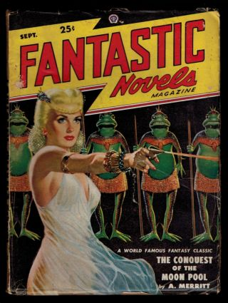 FANTASTIC NOVELS Magazine Vol 2, No 3, September, 1948 issue. No 3 FANTASTIC NOVELS Magazine Vol...