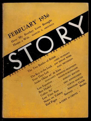 THE TWO BOTTLES OF RELISH [in] STORY MAGAZINE, February, 1936 issue. Lord DUNSANY
