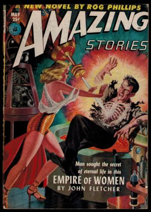 AMAZING STORIES magazine, Vol 26, No. 5, May, 1952 issue. Vol 26 AMAZING STORIES magazine, 1952...