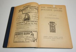 THE EXPLOITS OF BRIGADIER GERARD [bound with] THE GREEN FLAG And Other Stories of War and Sport. Illustrated by A.S. Hatrick.