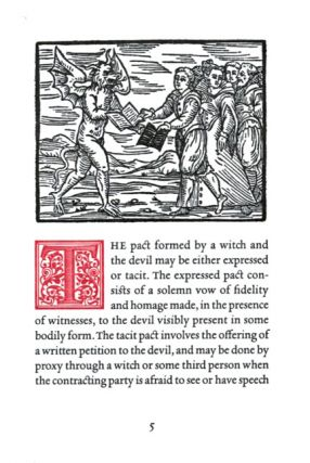 OF THE WITCHES' PACT WITH THE DEVIL.