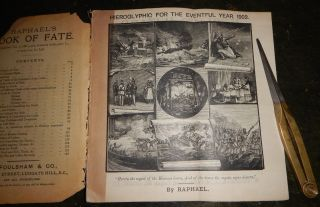 RAPHAEL'S ALMANAC; Or, THE PROPHETIC MESSENGER AND WEATHER GUIDE. Six Issues, 1901-1911.