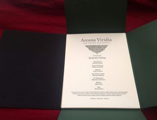 ARCANA VIRIDIA. The Green Mysteries. Seven Prints by Benjamin Vierling. Art Portfolio.