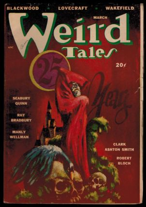 THE MASTER OF THE CRABS [in] WEIRD TALES Magazine. March, 1948 issue. CANADIAN EDITION. Clark Ashton SMITH.