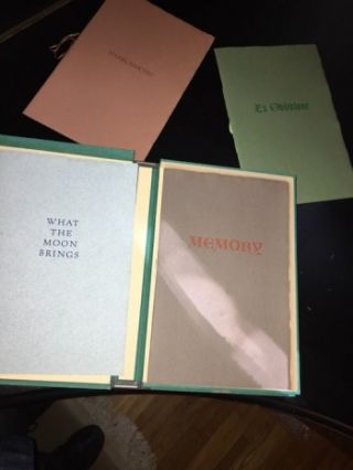 THE PROSE POEMS OF H.P. LOVECRAFT. Miskatonic Edition. Comprising MEMORY, EX OBLIVIONE, WHAT THE MOON BRINGS, and NYARLATHOTEP. Four Volumes, Complete, in Custom Folding Solander Box..