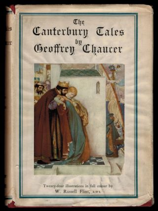 THE CANTERBURY TALES OF GEOFFREY CHAUCER. Illustrated After Drawings by W. Russell Flint. W....