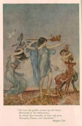 THE CANTERBURY TALES OF GEOFFREY CHAUCER. Illustrated After Drawings by W. Russell Flint.