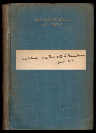 THE GREAT WALL OF CHINA And Other Pieces; by Franz Kafka. ANNA KAVAN'S COPY, Signed by Her. Anna...