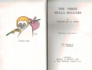THE THREE MULLA-MULGARS. With Illustrations by J.A. Shepherd.