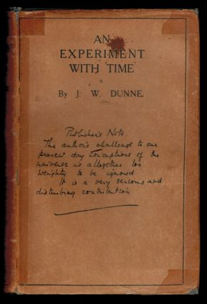 AN EXPERIMENT WITH TIME. J. W. DUNNE